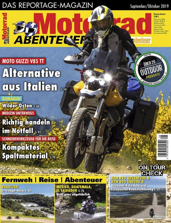 MotorradABENTEUER September/Oktober 2019 gedruckte Ausgabe