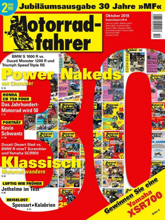 MOTORRADFAHRER Oktober 2018 gedruckte Ausgabe