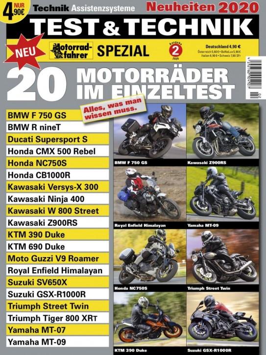 Motorrad-Spezial TEST und TECHNIK 2/2020 gedruckte Ausgabe