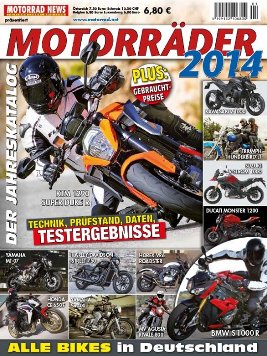 MOTORRÄDER – Der Jahreskatalog 2014