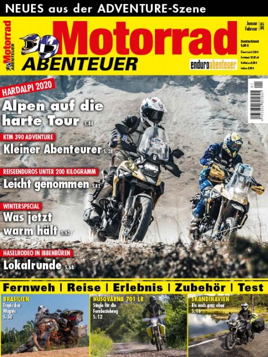 MotorradABENTEUER Januar/Februar 2021 gedruckte Ausgabe