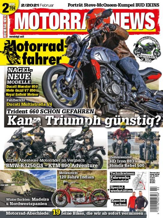 MOTORRAD NEWS 2/2021 gedruckte Ausgabe