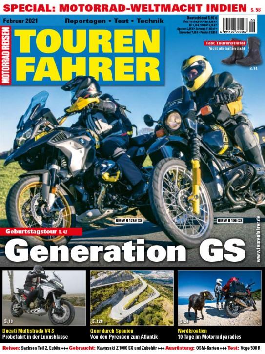TOURENFAHRER Februar 2021 gedruckte Ausgabe