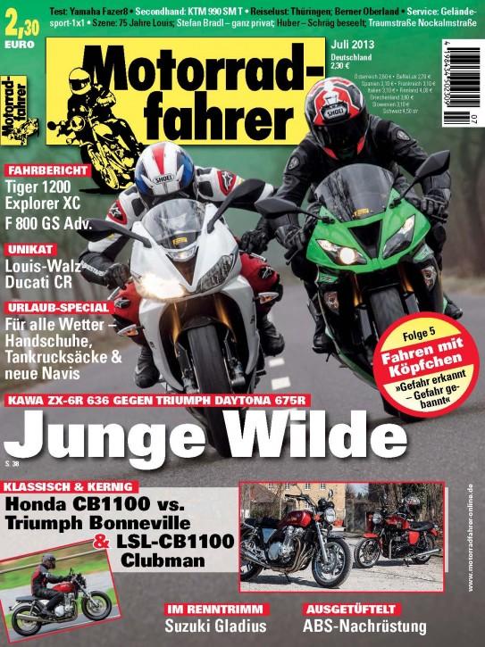 MOTORRADFAHRER Juli 2013 gedruckte Ausgabe