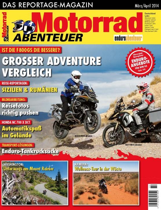 MotorradABENTEUER März/April 2014 gedruckte Ausgabe