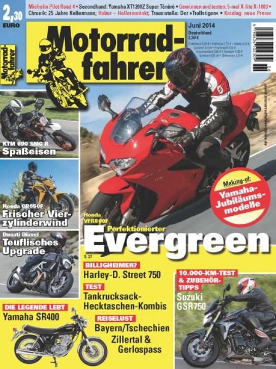 MOTORRADFAHRER Juni 2014 gedruckte Ausgabe