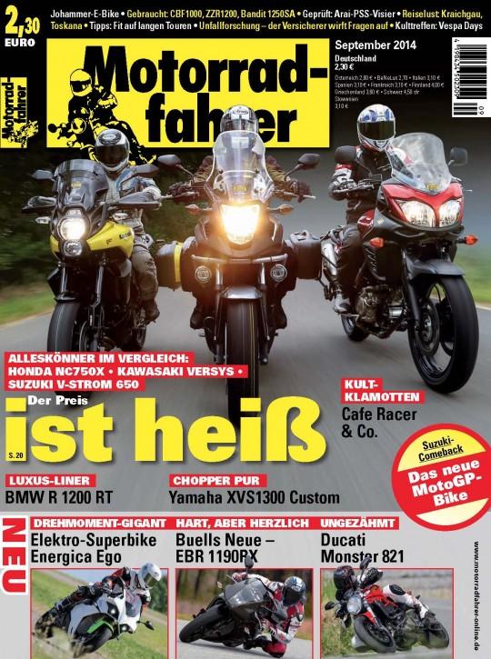 MOTORRADFAHRER September 2014 gedruckte Ausgabe