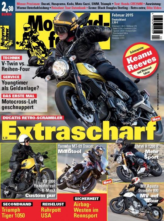 MOTORRADFAHRER Februar 2015 gedruckte Ausgabe