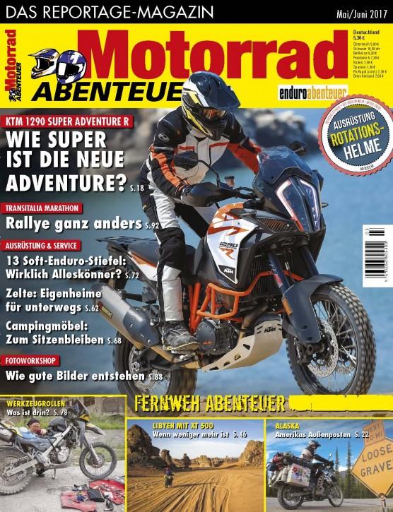MotorradABENTEUER Mai/Juni 2017 gedruckte Ausgabe