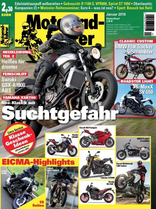 MOTORRADFAHRER Januar 2016 gedruckte Ausgabe
