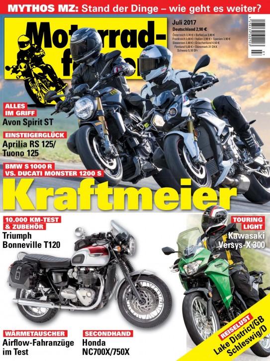 MOTORRADFAHRER Juli 2017 gedruckte Ausgabe