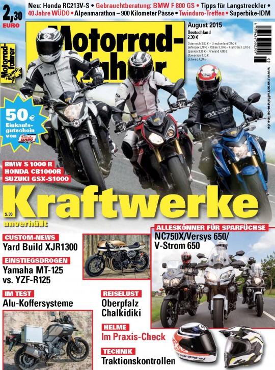 MOTORRADFAHRER August 2015 gedruckte Ausgabe
