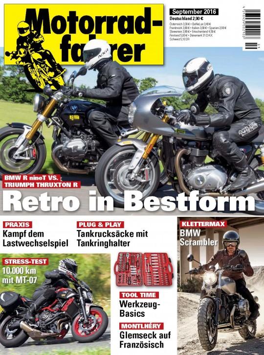 MOTORRADFAHRER September 2016 gedruckte Ausgabe