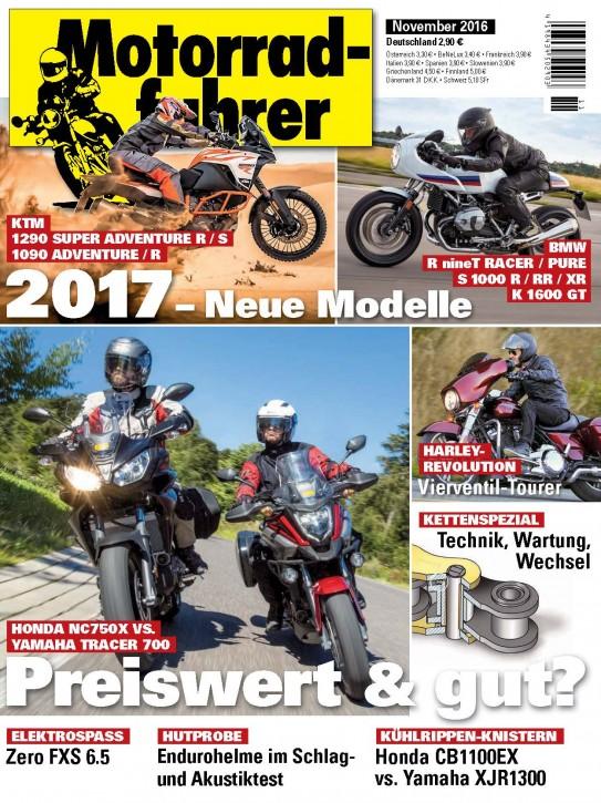 MOTORRADFAHRER November 2016 gedruckte Ausgabe