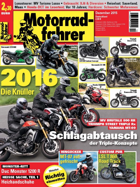 MOTORRADFAHRER Dezember 2015 gedruckte Ausgabe