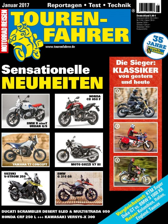 TOURENFAHRER Januar 2017 gedruckte Ausgabe