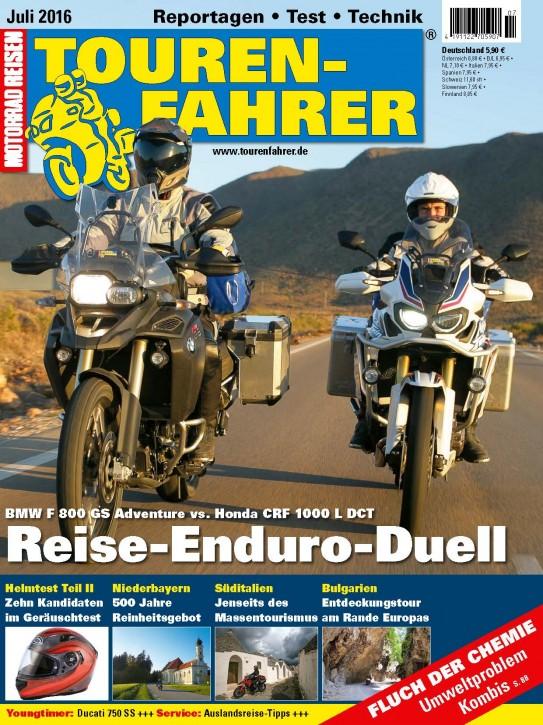 TOURENFAHRER Juli 2016 gedruckte Ausgabe
