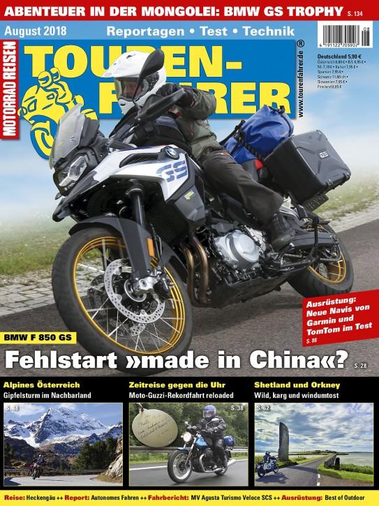TOURENFAHRER August 2018 gedruckte Ausgabe