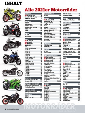 MOTORRÄDER – Der Jahreskatalog 2021 gedruckte Ausgabe
