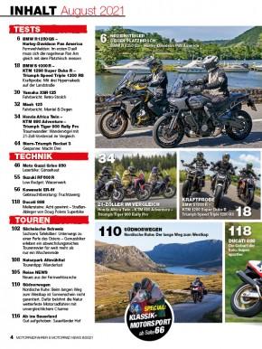 MOTORRAD NEWS 8/2021 gedruckte Ausgabe