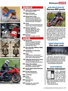 MOTORRAD NEWS 9/2021 gedruckte Ausgabe