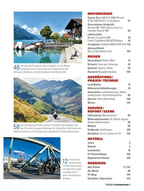 TOURENFAHRER Oktober 2020 gedruckte Ausgabe