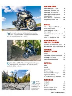 TOURENFAHRER Mai 2021 gedruckte Ausgabe