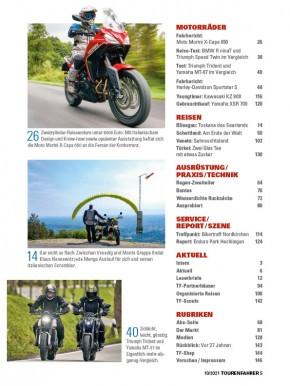 TOURENFAHRER Oktober 2021 gedruckte Ausgabe