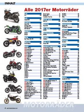 MOTORRÄDER – Der Jahreskatalog 2017 gedruckte Ausgabe