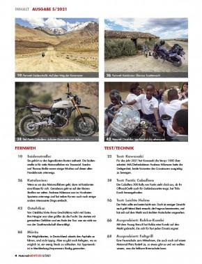 MotorradABENTEUER September/ Oktober 2021 gedruckte Ausgabe
