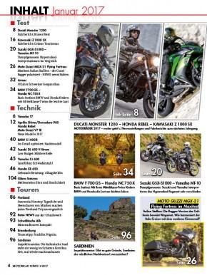 MOTORRAD NEWS 1/2017 gedruckte Ausgabe