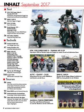 MOTORRAD NEWS 9/2017 gedruckte Ausgabe