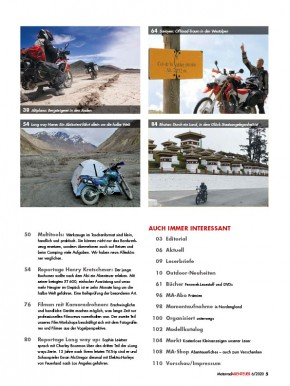 MotorradABENTEUER November/Dezember 2020 gedruckte Ausgabe