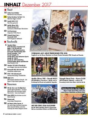 MOTORRAD NEWS 12/2017 gedruckte Ausgabe