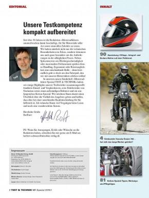 Motorrad-Spezial TEST und TECHNIK 1/2019 gedruckte Ausgabe