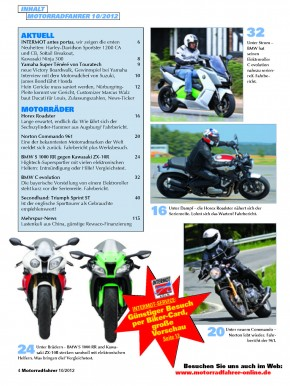 MOTORRADFAHRER Oktober 2012 gedruckte Ausgabe