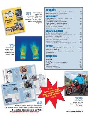 MOTORRADFAHRER Januar 2013 gedruckte Ausgabe
