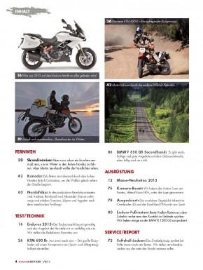 MotorradABENTEUER Januar/Februar 2013 gedruckte Ausgabe