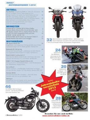 MOTORRADFAHRER Januar 2014 gedruckte Ausgabe