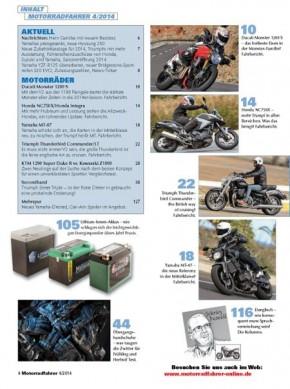 MOTORRADFAHRER April 2014 gedruckte Ausgabe