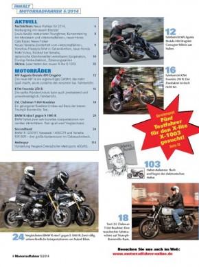 MOTORRADFAHRER Mai 2014 gedruckte Ausgabe