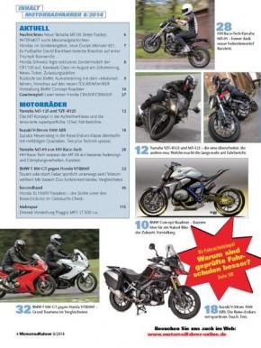 MOTORRADFAHRER August 2014 gedruckte Ausgabe