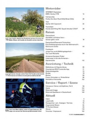 TOURENFAHRER November 2014 gedruckte Ausgabe