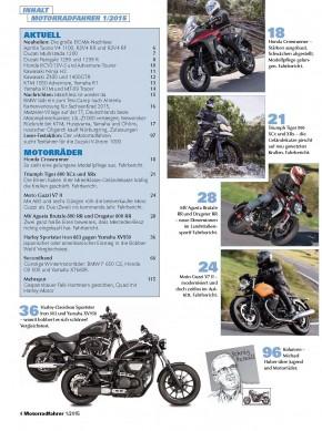 MOTORRADFAHRER Januar 2015 gedruckte Ausgabe