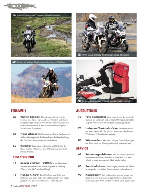 MotorradABENTEUER November/Dezember 2017 gedruckte Ausgabe