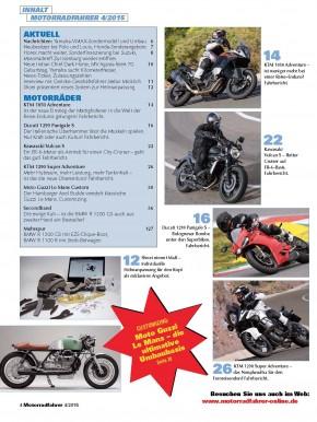 MOTORRADFAHRER April 2015 gedruckte Ausgabe
