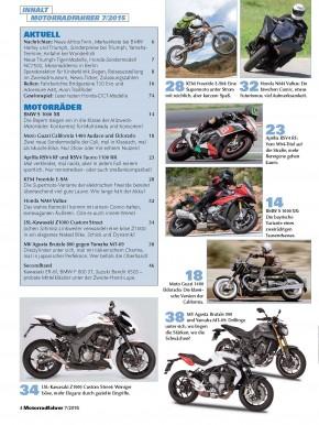 MOTORRADFAHRER Juli 2015 gedruckte Ausgabe