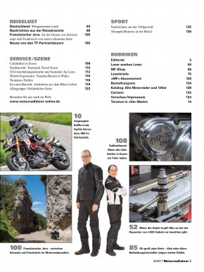 MOTORRADFAHRER August 2017 gedruckte Ausgabe
