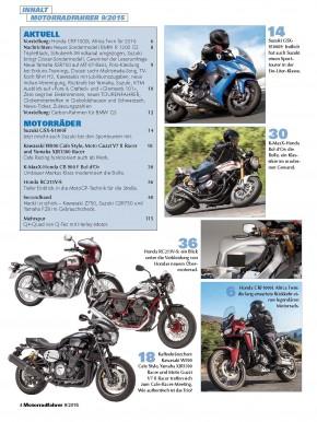 MOTORRADFAHRER September 2015 gedruckte Ausgabe