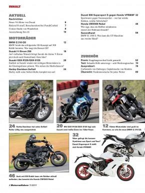 MOTORRADFAHRER November 2017 gedruckte Ausgabe